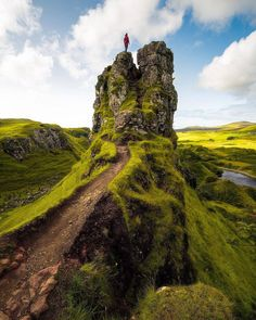 "Scotland ""Here is @craigschulstad being the King of the Castle! #FairyGlen #Skye #Scotland #VisitScotland…"""