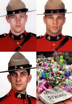 ''We're Not Killers. We're Cops.'' says an anonymous officer referencing the Moncton, New Brunswick incident last week when Justin Bourque was taken into custody after killing 3 RCMP officers in a shoot out. Approx. 7000 police officers will visit Moncton to attend the regimental funeral. Hearts to their families and the Moncton residents who endured hours of tension & fear while the manhunt continued. Northwest Territories, O Canada, Prince Edward Island, Real Hero, New Brunswick, Love And Respect, Us Army, Law Enforcement, Police Officer