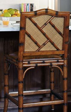 An elegant example of traditional chinoiserie, the New Haven Barstool is inspired by classic Asian design.