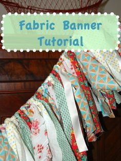 No-Sew Fabric Banner Tutorial - fabric banners make wonderful decor for photography backdrops, birthday parties, bedrooms and holiday celebrations. Can be made with scrap or new fabric, ribbons and lace.