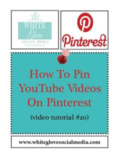 How To Pin YouTube Videos: Learn why Pinterest drives more website referral and sales traffic than any other social media platform http://www.whiteglovesocialmedia.com/webinar/#.UVDsy6VI3w5