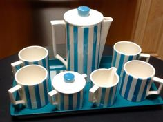 Mid-Century Modern Coffee Set with Tray