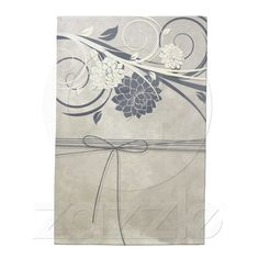Blue Flowers Kitchen Towel