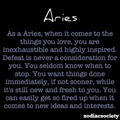 Aries for sure!