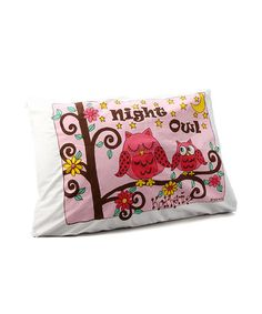 Another great find on #zulily! 'Night Owl' Personalized Standard Pillowcase #zulilyfinds
