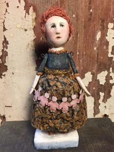 Tilly - handmade original folk art doll by SusanHopkirkFolkArt on Etsy