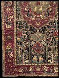 """Safavid dynasty era Persian carpet  segment of a 3-400 years old fantastic Safavid dynasty era Persian carpet. Iran is the original homeland of the Persian carpet, also referred to as """"oriental rug"""". The 2500-year-old Pazyryk carpet dating back to 500 B.C., is evidence of that Persian carpet weaving has a history that dates back at least some 2500 years."""