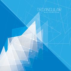 Triangular Background Vector Graphic — decoration, geometric, promotion, blueprint, triangle, abstract, angular, modern, winter, event, cover, flyer