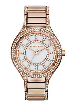 Michael Kors Kerry Pave Rose Gold Watch