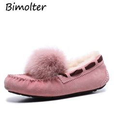 d7afc267e92 Aliexpress.com   Buy Bimolter Loafers Women Flats Heel Shoes Warm Fur Winter  Round Toe Female Ladies Casual Slip On zapatos de mujer Shoes LFSB010 from  ...