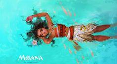 Moana Fan art, Q - peng on ArtStation at https://www.artstation.com/artwork/LVnWA?utm_campaign=digest&utm_medium=email&utm_source=email_digest_mailer