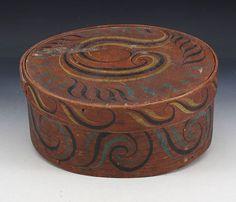 """Dekorert """"Viksdalsask"""", siste halvdel av 1800 t. D: 26 cm. Prisantydning: ( 1000 - 1200) Solgt for: 700"""