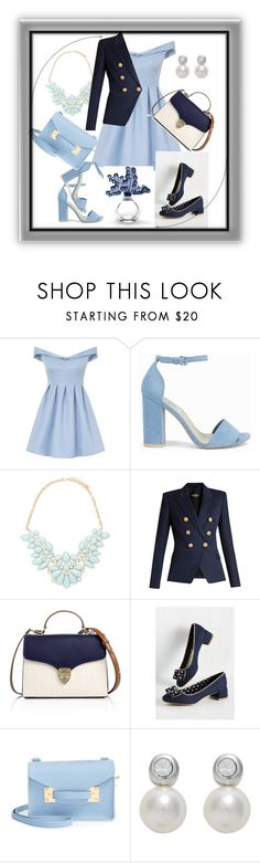 """""""hmm.."""" by laisy-daisy ❤ liked on Polyvore featuring Chi Chi, Nly Shoes, Forever 21, Balmain, Aspinal of London, Sophie Hulme, Finesse and Lalique"""
