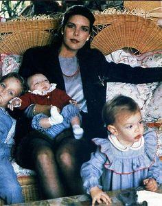 La princesa Carolina y sus hijos