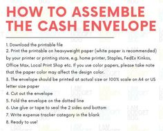 Cash Envelope Printable (Horizontal, Set of - Perfect for Dave Ramsey Budget Envelope System, Cash Budget Envelope, Money Envelope System Envelope Budget System, Cash Envelope System, Budget Envelopes, Cash Envelopes, Cash Envelope Pattern, Cash Wallet, Sinking Funds, Dave Ramsey, Budgeting