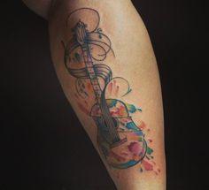 29 отметок «Нравится», 1 комментариев — Tempest (@aka.tempest) в Instagram: «O deus da música acústica. #guitartattoo #Vintagetatouage»