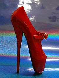 Extreme high heel ballet high heel fetish shoes