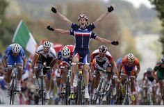 awesome Funny cycling winning moment caught on camera