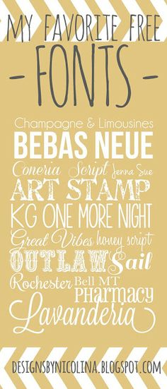 designs by nicolina: FONT LOVE!