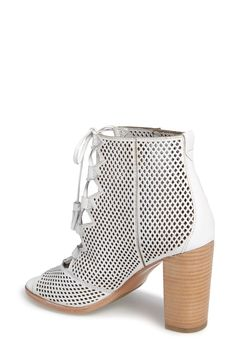 Free shipping and returns on Frye Gabby Perforated Ghillie Lace Sandal (Women) at Nordstrom.com. Latticed perforations and an open top bridged by crisscrossed ghillie laces make this bootie-inspired sandal feel oh-so-right for warmer weather, while the tasseled ties and stacked woodgrain heel add trend-right finishing touches.