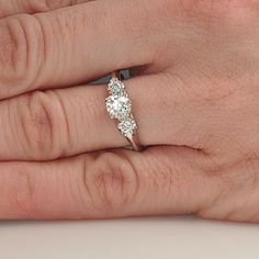 Leigh Jay Nacht Inc. - Replica 1930's Engagement Ring - 1228-01 $2450 Like the three stones.