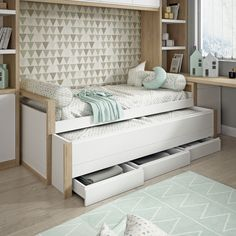 Bedroom Bed Design, Girl Bedroom Designs, Small Room Bedroom, Bedroom Decor, Small Room Design, Baby Room Design, Home Room Design, Cool Dorm Rooms, Cute Bedroom Ideas