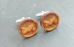 Custom Made Cufflinks - Wooden Motorbike Button by LillyDillys on Etsy Motorbikes, Cufflinks, Trending Outfits, Unique Jewelry, Handmade Gifts, How To Wear, Accessories, Etsy, Button