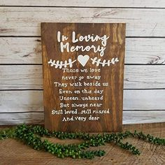 in loving memory wedding wood rustic  sign - A simple wedding Memorial sign, photograph or reserved empty seat will be a heartfelt addition to your Wedding decoration and will go perfectly with any wedding theme. check out these 20 Wedding Memorial Signs Ideas and Inspirations
