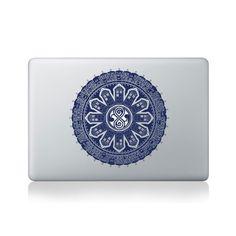 Tardis and Villains Mandala Vinyl Sticker for Macbook (13/15), Laptop, Guitar, Car or Window