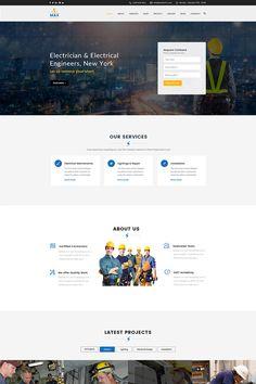 WordPress Template , Max Electric - Electrician