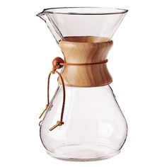 Chemex: caffenistas swear this is the best and only way to make coffee. This sounds like a challenge....