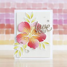 Amore Laurafadora: Hibiscus Bloom - Simon Says Stamp Blog Pretty Cards, Cute Cards, Simon Says Stamp Blog, Pretty Pink Posh, Scrapbook Cards, Scrapbooking, Card Tags, Flower Cards, Hibiscus