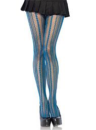 Peacock Burlesque Stripe Pantyhose