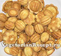 Приготовление орешков со сгущенкой
