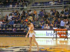 ECU Twirler during half time at the ECU Men's Basketball game.  Photo by Shariyka Romero