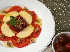 Receta Ensalada de tomate, manzana y nueces HortoGourmet/Tomato, apple and nuts salad