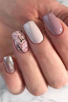 romantic nail art, heart nail art designs, white nail art designs, heart tip nails - Nails Bridal Nails Designs, Bridal Nail Art, Wedding Nails Design, Best Nail Art Designs, Stylish Nails, Trendy Nails, Pink Nails, Gel Nails, Nail Polish