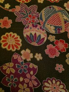 From my collection of chirimen fabric.........v