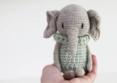 ****Please note: This is an english crochet pattern (PDF) not the finished doll***** ------------------------------------------------------------------------------------- This is an amigurumi crochet pattern for the LuiPhant. After your purchse you will get the english pattern by PDF