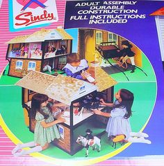 """Wow!!!!!! Really cool and never have seen this before, love it! : Pedigree England SINDY 12"""" COUNTRY MANOR Huge DOLL HOUSE Playset MIB`85 TOP RARE #PedigreeEngland"""