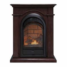 Duluth Forge 16 Inch Dual Fuel Vent Free Gas Fireplace With