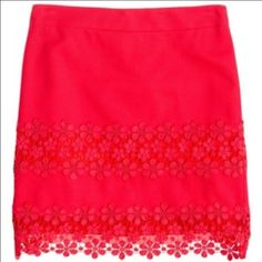 J Crew Pink Daisy Lace Mini Skirt J Crew Pink Daisy Lace Detail Mini Skirt. Like New! J. Crew Skirts Mini