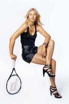 photo of lovely tennis player Maria Sharapova. Mode Tennis, Sport Tennis, Atp Tennis, Maria Sharapova Hot, Maria Sarapova, Female Surfers, Ana Ivanovic, Tennis Players Female, Tennis Fashion