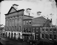 Ford's Theatre, draped in mourning after Lincoln's assassination - 1865