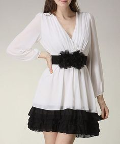 Take a look at this Off-White Vintage Dress by Dating Apparel on #zulily today! oooh my gosh!!