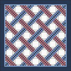 Braided Triple Irish Chain Quilt Pattern by QuiltPatterns