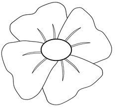Free printable poppy remembrance day craft with printable template remembrance day poppy clipart maxwellsz