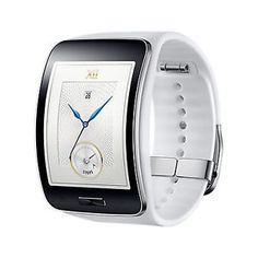 Genuine Samsung SM-R750 Galaxy gear S white Curved OLED Smart Watch - The Samsung Gear S smart watch has an elegant curved Super AMOLED display for a comfortable fit. Express your style with changeable straps and screen clocks. See info and alerts on a beautiful, easy-to-use interface. #samsung #gear #smart #watch #galaxy #elegant #timepiece #genuine