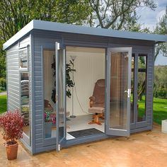 The Malvern Studio Pent garden office/summerhouse is available from GBC Group in a choice of timber finishes and a range of sizes. shed design shed diy shed ideas shed organization shed plans Outdoor Office, Backyard Office, Backyard Studio, Backyard Sheds, Backyard Landscaping, Garden Studio, Shed Design, Garden Design, House Design
