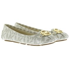 d0971dccc4e Michael Kors Fulton Moc MK Signature PVC Vanilla in beige, Ballerinas  ($110) ❤